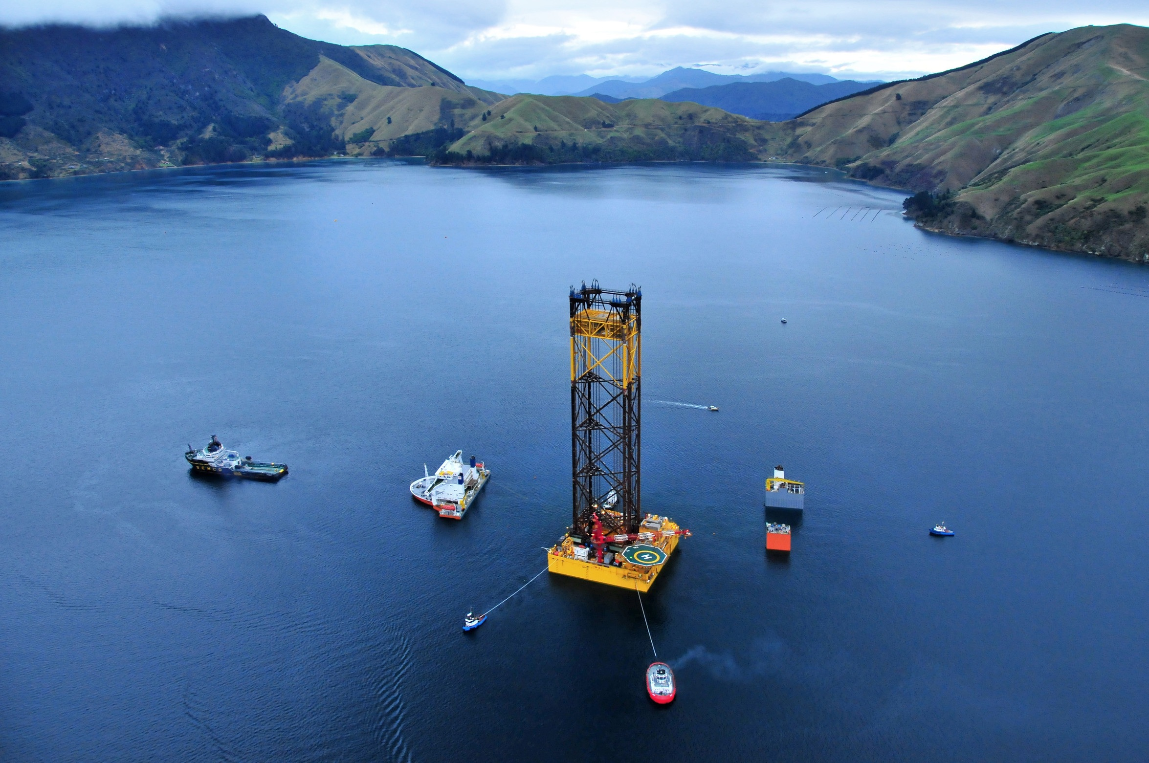 Maari Wellhead Platform Taranaki Basin Clough Oil Gas